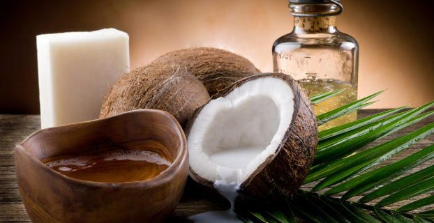 cosmetics with coconut oil
